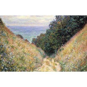 Buy Footpath Framed Painting Print on Canvas!