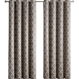 Kuhlmann Lattice Geometric Blackout Thermal Grommet Curtain Panels Set Of 2