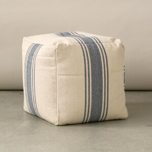 Grange Canvas Pouf Ottoman by Creative Co-Op