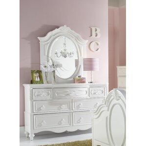 Jamari 7 Drawer Double Dresser with Mirror by Viv + Rae