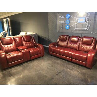 Leather Reclining Configurable Living Room Set