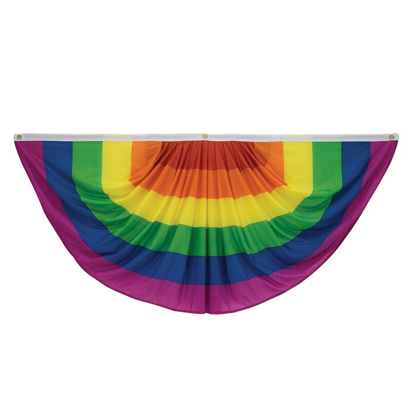 Victory Corps Pleated Pride Fan Polyester 30 X 60 In Bunting Wayfair