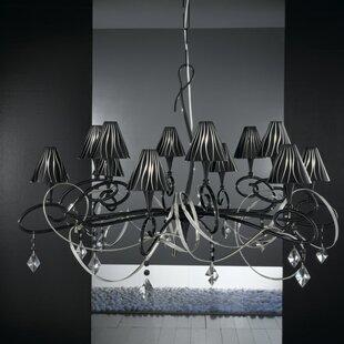 Zanin Lighting Inc. Chic 12-Light Shaded Chandelier