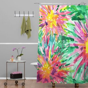 Amick Confetti Floral Single Shower Curtain