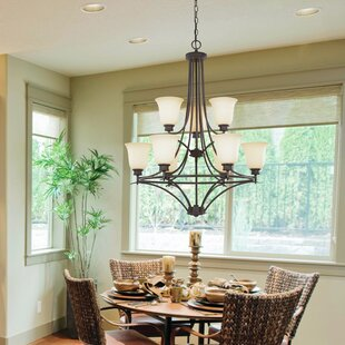 Red Barrel Studio Amee Traditional 9-Light Shaded Chandelier