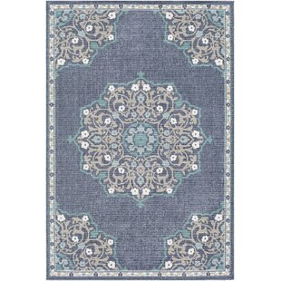 Dutcher Floral Charcoal/Taupe Indoor/Outdoor Area Rug by Bungalow Rose