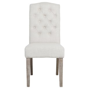 Ophelia & Co. Zechariah French High Back Tufted Upholstered Dining Chair (Set of 2)