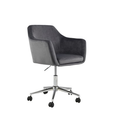 Mcwhorter Antle Upholstered Office Chair Upholstery Color: Gray Velvet by Beachcrest Home