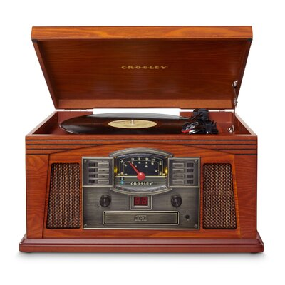 Lancaster Entertainment Center with Bluetooth Crosley Electronics