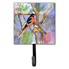 Baltimore Oriole Leash Holder and Wall Hook by Caroline's Treasures