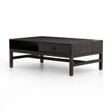 Mosely Solid Wood Coffee Table with Storage by Millwood Pines