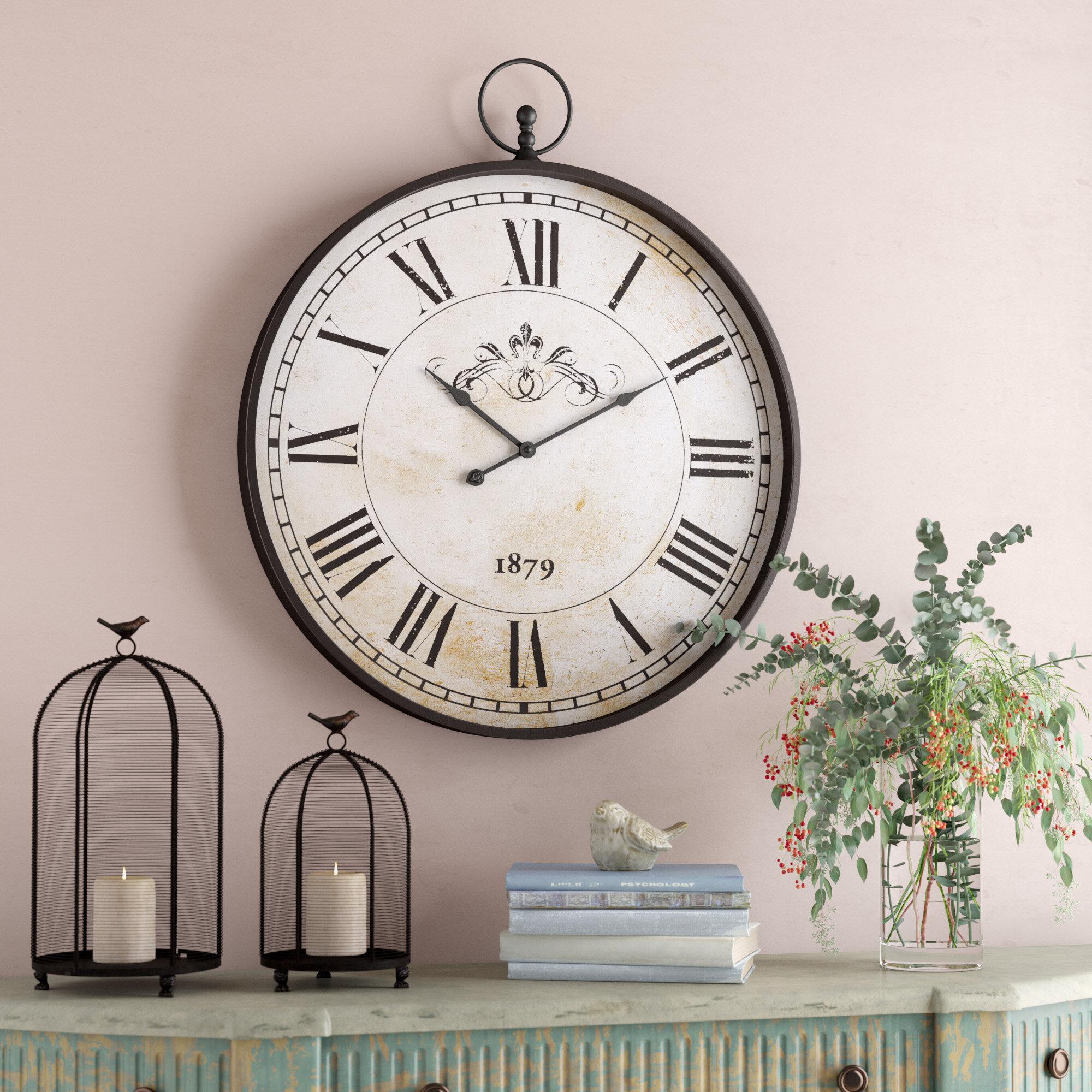 One Allium Way Oversized 31 Wall Clock Reviews Wayfair
