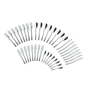Sophia 40 Piece 18/10 Stainless Steel Flatware Set, Service For 8 By Solex