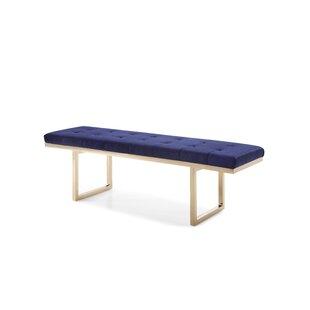Everly Quinn Huntingdon Modern Upholstered Bench