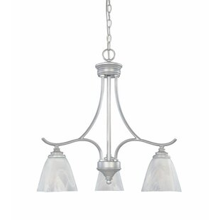 Charlton Home Holm 3-Light Shaded Chandelier
