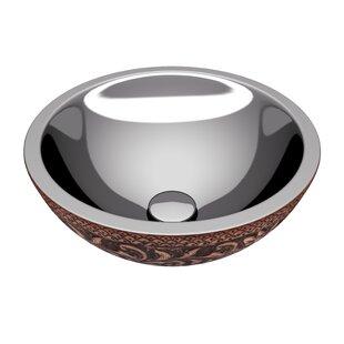 ANZZI Moor Metal Circular Vessel Bathroom Sink