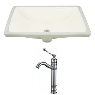 Look for Ceramic Rectangular Undermount Bathroom Sink with Faucet and Overflow By Royal Purple Bath Kitchen