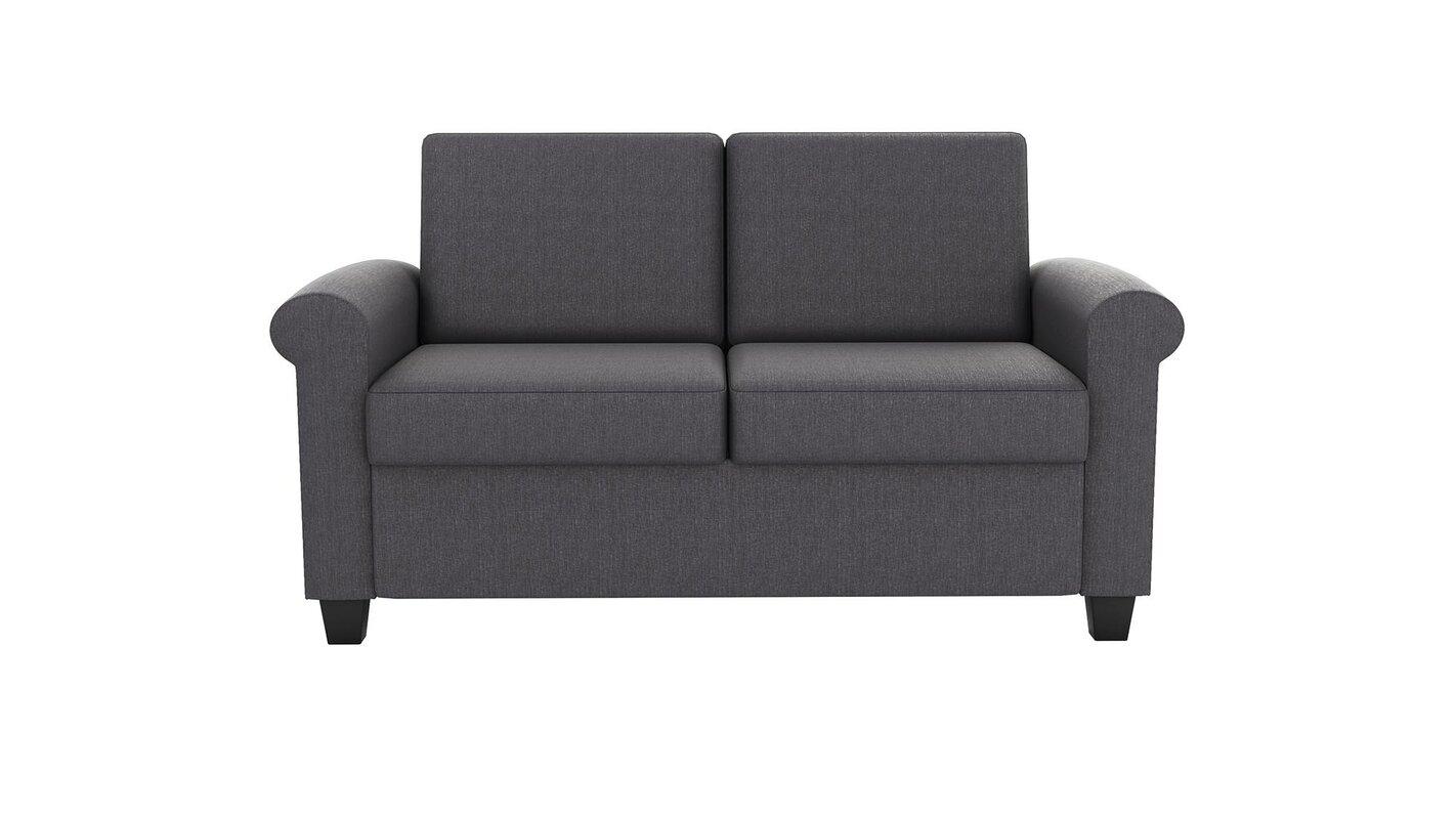 Ebern Designs Ahumada Twin Reclining Sleeper Sofa Reviews Wayfair ~ Genuine Leather Sleeper Sofa