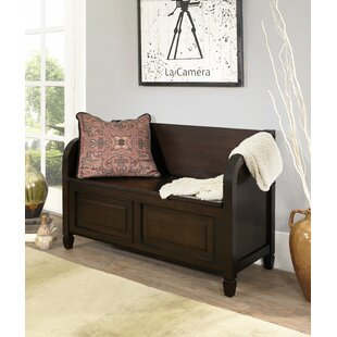 Simpli Home Connaught Wood Storage Bench