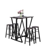 Fenchurch 5 - Piece Counter Height Drop Leaf Dining Set by 17 Stories