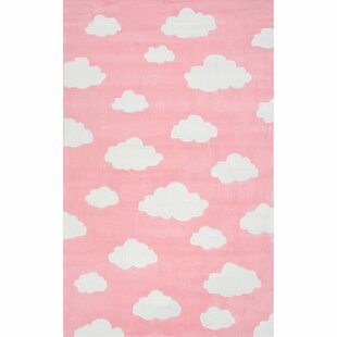 Elegant Lily Cloudy Sachiko Hand Tufted Pink Area Rug