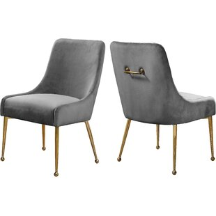 Stovall Velvet Upholstered Dining Chair (Set of 2)