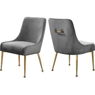 Stovall Velvet Upholstered Dining Chair (Set of 2) Everly Quinn