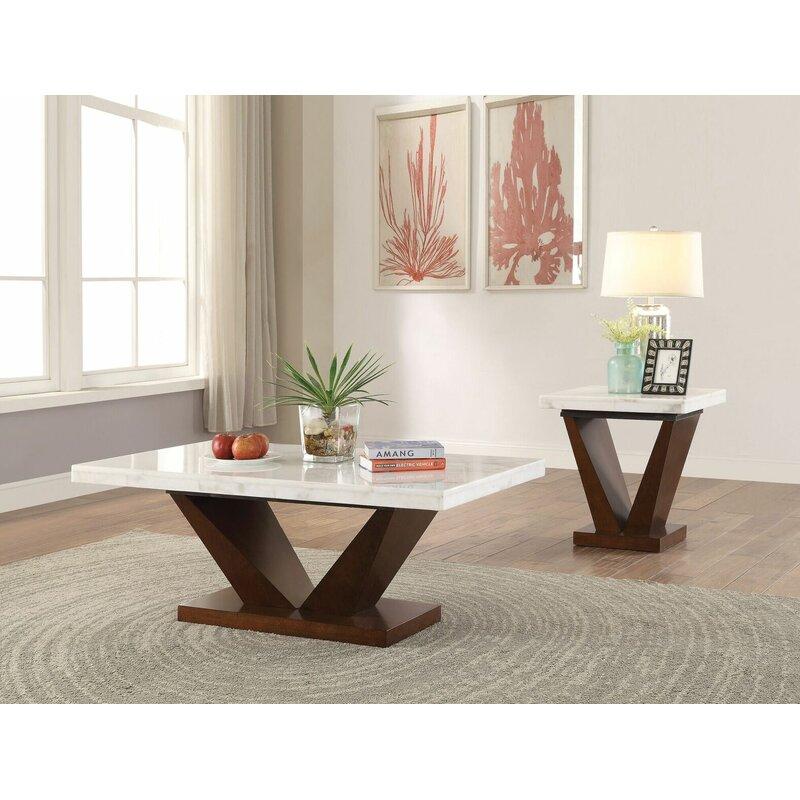 Brayden Studio Todd Creek 2 Piece Coffee Table Set Reviews Wayfair