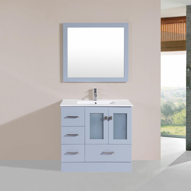 bathroom furniture modern. Latitude Run Lapoint 36\ Bathroom Furniture Modern S