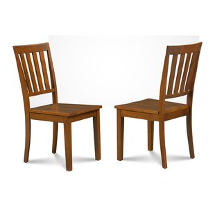 Chicago Solid Wood Dining Chair (Set of 2) Alcott Hill