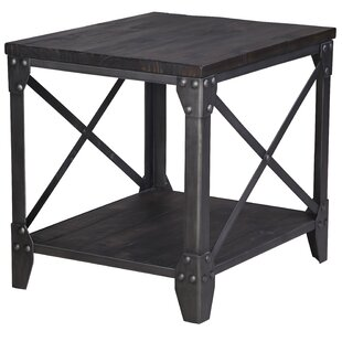 Affordable Ensley Industrial End Table by 17 Stories