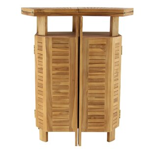 Kezia Rustic Teak Wood Extendable Bar Table