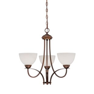 Tickhill 3-Light Shaded Chandelier by Fleur De Lis Living