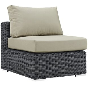Brayden Studio Keiran Outdoor Patio Armless Chair with Cushion