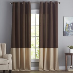 Darden Solid Semi-Sheer Grommet Single Curtain Panel