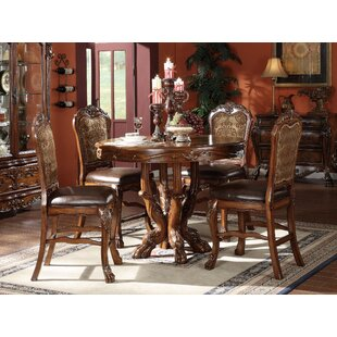 Astoria Grand Welliver Traditional 5 Piece Counter Height Dining Set