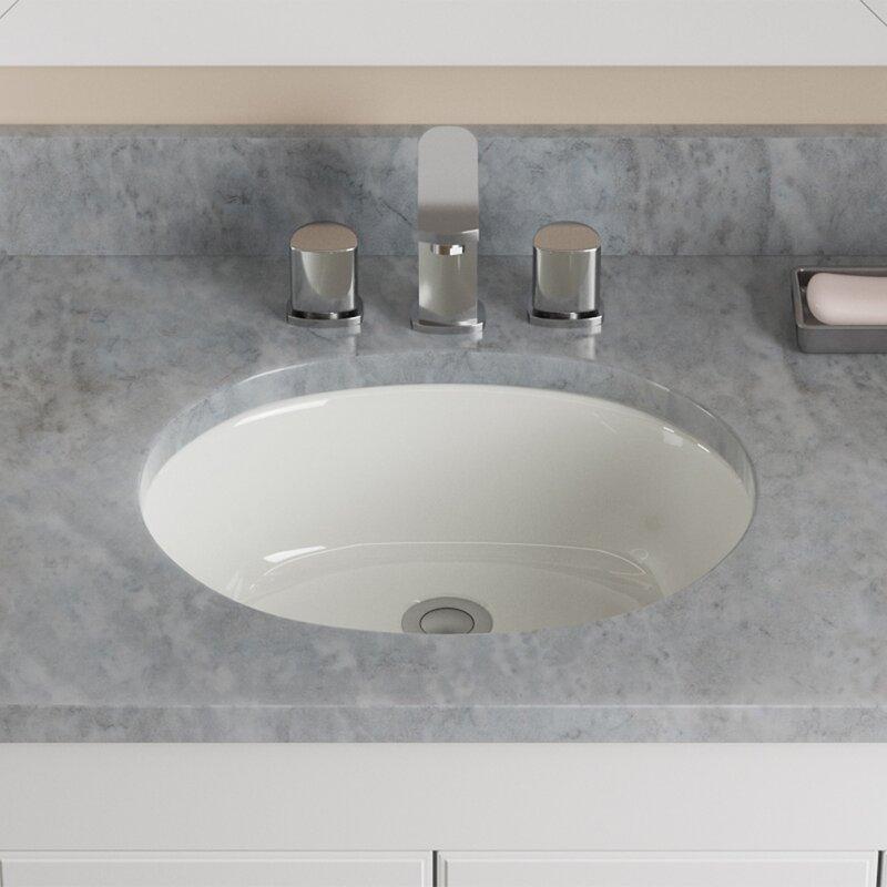 Hahn Ceramic Oval Undermount Bathroom Sink With Overflow Walmart Com Walmart Com