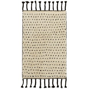 Reviews Speck Hand-Woven Black Area Rug By Dash and Albert Rugs