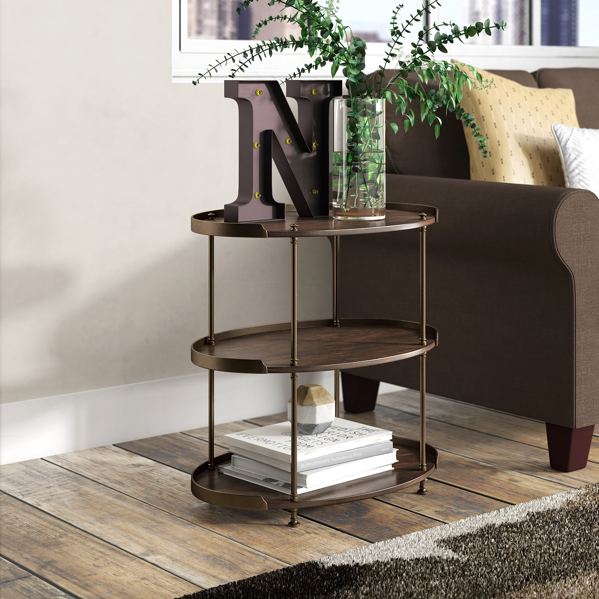 Table A Langer D Angle mahogany end & side tables you'll love in 2020 | wayfair