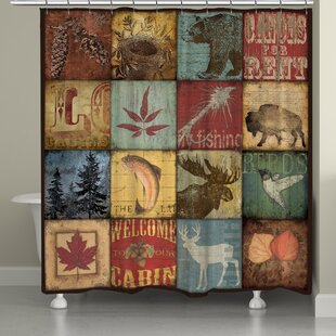 Lodge Patch Single Shower Curtain