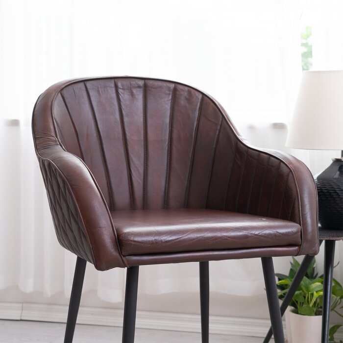 Kennison Leather Barrel Chair