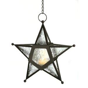 Sonya Clear Star Candle Lantern
