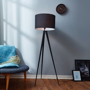 Modern black shade floor lamps allmodern save to idea board black black mozeypictures Choice Image