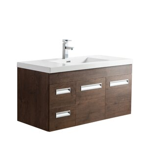 Pete 42 Wall Mount Single Bathroom Vanity Set By Orren Ellis