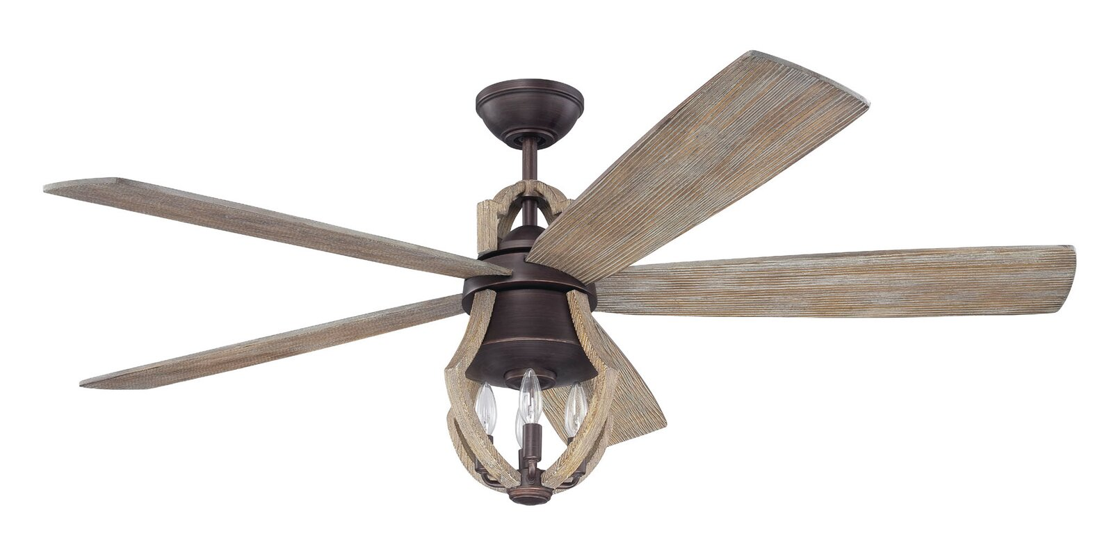 56 marcoux 5 blade led ceiling fan reviews birch lane 56 marcoux 5 blade led ceiling fan aloadofball Image collections