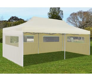 10 Ft. W x 20 Ft. D Steel Pop-Up Party Tent by VidaXL