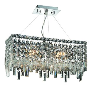 Rosdorf Park Gilberto 4-Light Crystal Chandelier