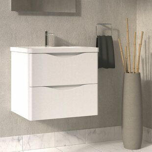 Quiroga 24 Wall-Mounted Single Bathroom Vanity Set ByOrren Ellis