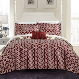 Anito 4 Piece Reversible Duvet Cover Set