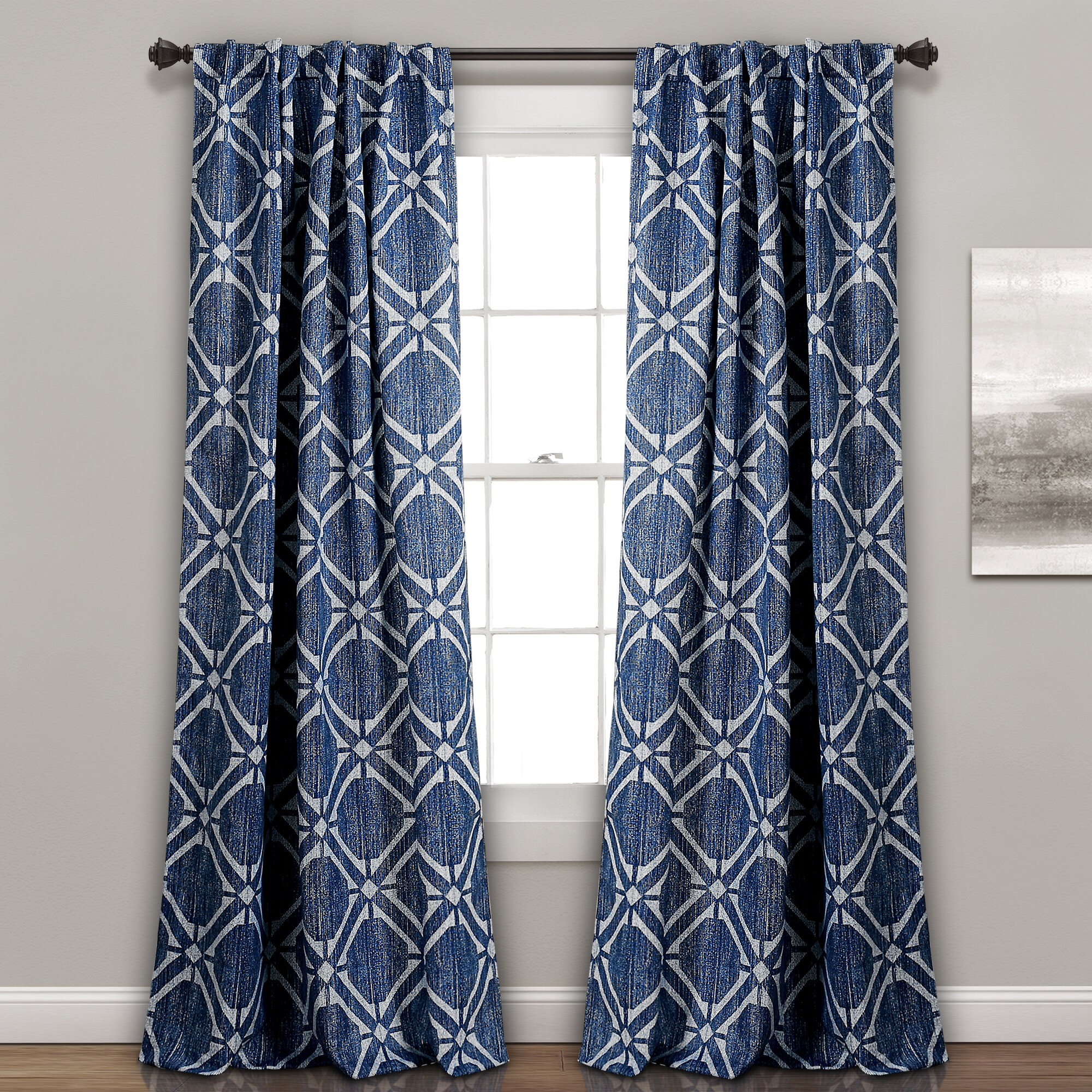 Winchendon Geometric Room Darkening Thermal Rod pocket Curtains